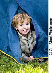 primeiro, tempo, acampamento