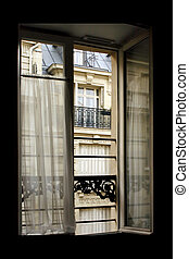 Paris window - Hotel window in old part of Paris