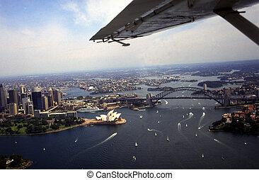 Sydney - Flying over Sydney