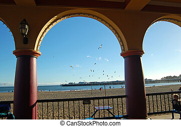 Santa Cruz Boardwalk - On the boardwalk in Santa Cruz,...