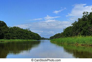 Clear for a while - Canale de Tortuguero, Costa Rica
