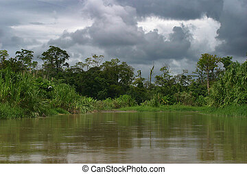 Before the rain - Canale de Tortuguero, Costa Rica.