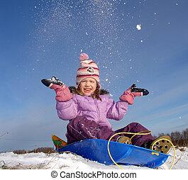 happy winter girl - winter girl
