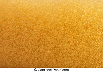 Beer Bubbles - Macro shot of the head on a freshly poured...