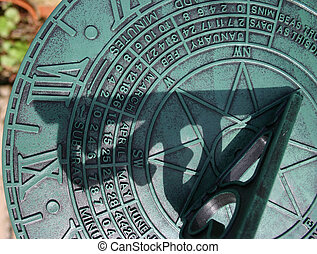 Sundial close up - Sundial in close up