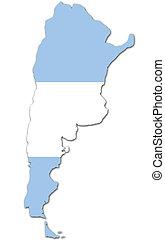 agentina - argentina map