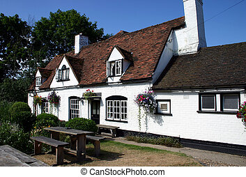 English Pub - Whitewashed English Vountry Inn