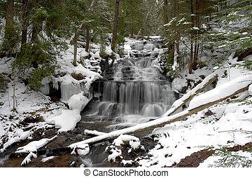 cascada, invierno