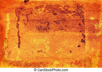 warm faded sheet - warm orange texture with marks and faded...