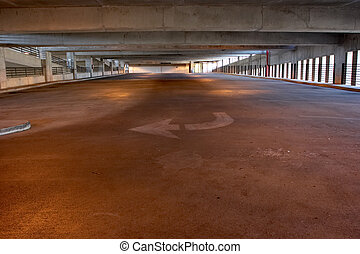 Parking Garage - Empty parking garage