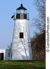 Maryland Lighthouse - Lighthouse in the morning shadows