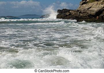 Ocean and rock