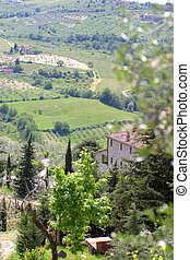 Tuscan Hills - A villa overlooking the Tuscan Hills, Italy