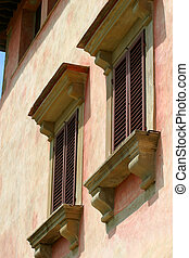 Villa Vignamaggio - windows on the exterior of the...