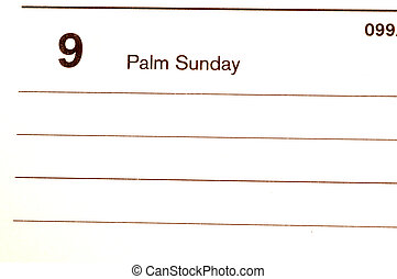 palm sunday calendar blotter