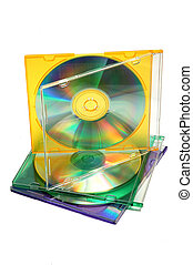 Stack of CDs - Stack of 3 CDs in color jewel cases