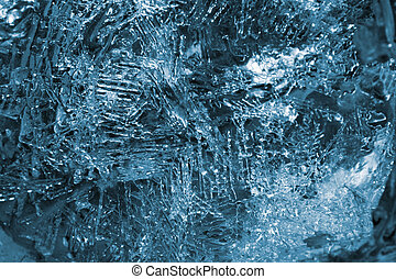 ice background - Texture of ice crystals