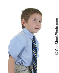 Future Business Man  - Isolated boy in a tie