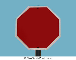 Blank sign - octagon - An octagonal road sign left blank to...