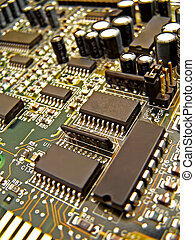 Circuit Board - close up of circuit board and elements