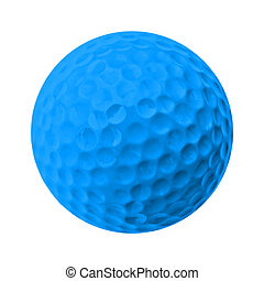 golf ball - blue golf ball
