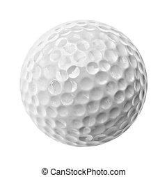 golf ball - gray golf ball