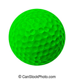 golf ball - green golf ball