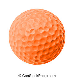 golf ball - orange golf ball