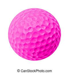golf ball - pink golf ball