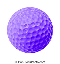 golf ball - purple golf ball