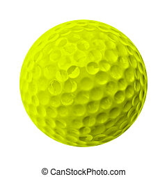 golf ball - yellow golf ball