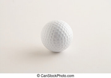 golf ball - Golfball - white Golfball on white Background -...