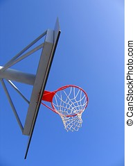 Basketball Hoop and Backboard - --- on a nice summer day