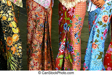 Batik Fashion - Sarong Kebaya, a traditional Nyonya and...