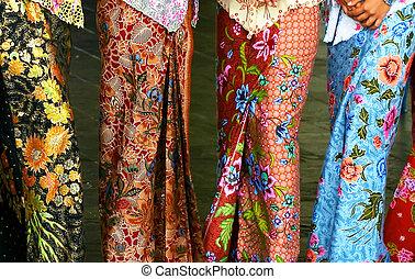 Batik Fashion - Sarong Kebaya, a traditional Nyonya and...
