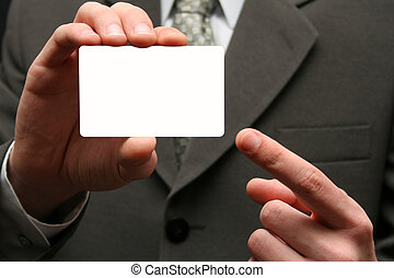 Empty visiting card - The man with an empty visiting card