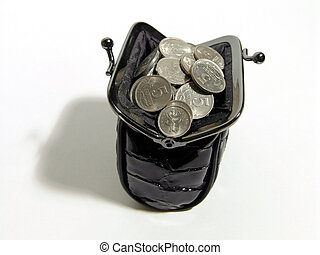 Coin Purse - A photo of black women coin purse full of coins