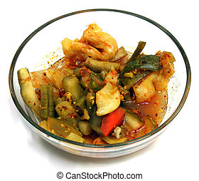 Pickled Vegetables - A Bowl of Pickled Vegetables