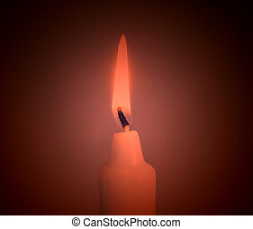 Candle with red hue