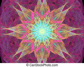 third eye - abstract fractal illustration created with...