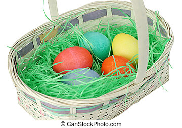 White Easter Basket