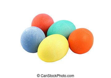 Colored Easter Eggs Isolated