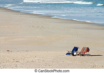 Beach Invitation - Two chairs on sandy Florida beach