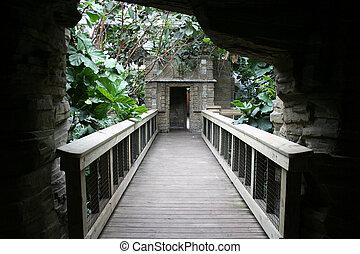 Bridge in the Jungle - A bridge in a zoo that brings you...