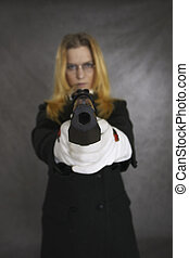 gunpoint - woman with gun