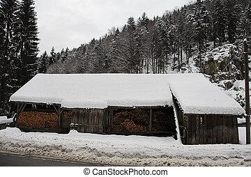 neige, paysage, #14