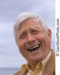 Laughter - Elderly man laughing
