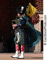 Piper - Scottish bagpiper NOTE TO REVIEWER: This image is...