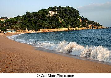 Fenals beach at Lloret de Mar Spain