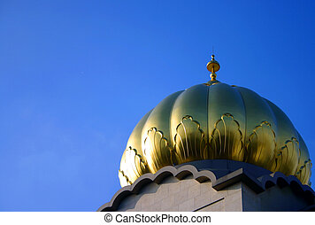 Temple Dome - Golden dome on the Sri Guru Singh Sabha...